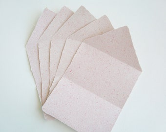 Writing Paper, Handmade Recycled Paper, Letter Papers, Writing Sheets, Handmade Writing Paper with Deckle Edges, Folding Letter Sheets