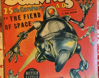 Vintage Buck Rogers 25th Century vs the Fiend of Space; Better Little Book; 1940 First Edition, Very Good Condition