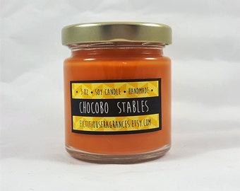 Chocobo Stables -- Final Fantasy Inspired 3 oz Scented Soy Candle