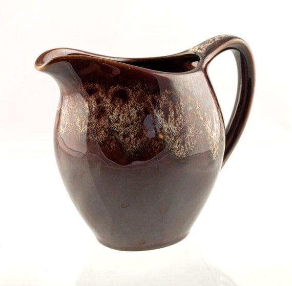 Vintage Kernewek Dripware Pottery Milk/Cream Jug With Honeycomb Glaze