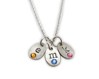 Personalized birthstone necklace - family necklace - personalized mothers necklace - personalized grandma necklace - love my tribe jewelry
