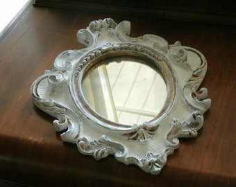 Vintage Shabby Chic Hand Painted Mirror