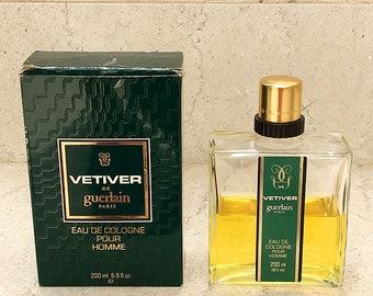 Vetiver de Guerlain Vintage Eau de Cologne Splash 200ml/6.8fl.oz w/Box Sold as seen