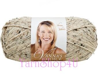 OATMEAL, Vanna's Choice Multi Yarn, Fleck yarn, Lion Brand Yarn, Creamy yarn, Acrylic Yarn, 3oz / 85g, 145yd / 133m, Multi colored yarn