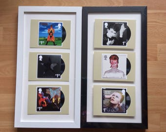 David Bowie personalised framed wall art -Black Star Hunky Dory Heroes Aladdin Sane Earthling Lets Dance