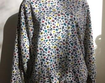Esprit vintage atomic print 1980's sweatshirt