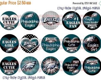 INSTANT Download Philadelphia Eagles Inspired 4x6 Digital Printable 1 Inch Circle Bottle Cap Images