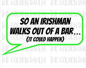 SVG St. Patrick's Day Irishman Cut File Silhouette Cameo Cricut Shamrock