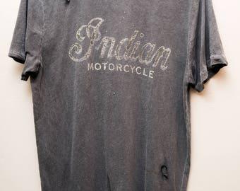 Indian Motorcycles Medium Distressed Grey Tee