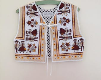 Sweet waistcoat  vest // Teen Small Adult handmade upcycled Folk vintage retro boho // OOAK // UK seller