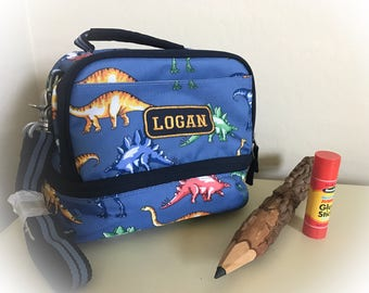 Dinosaur Cold Pack Lunchbox Pottery Barn Personalized