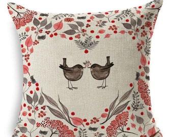 Heart Love Birds - Pillow Cover