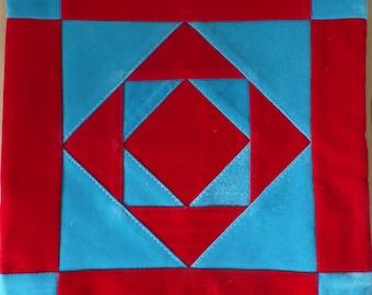 Orthodox Old Believer prayer rug, handmade, podruchnik