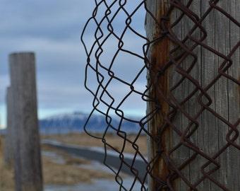 Fence Seltjarnanres * Iceland * Travel Photography * Travel Abroad * Rustic Photographic Art * Farmhouse Art * Reykjavik * Travel Art *