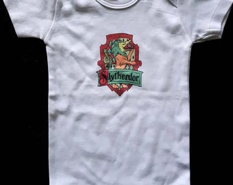 Slytherdor Cross-House Crest Baby Onesie