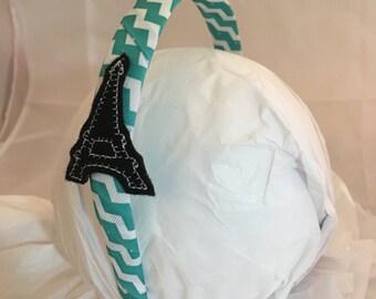 Headband- Eiffel Tower - paris Headband - eiffel tower Headband- Hair Accessory- stocking stuffer- gift for girl- eiffel