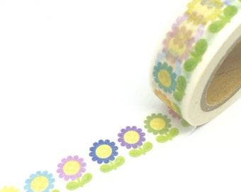 Cute Flowers Washi Tape 15mm x 10m