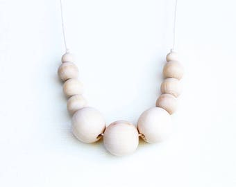 Vanilla - Wooden Beaded Necklace