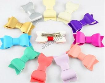 Leather Bow Hair clip ,Baby Girl Hair clip ,Girl hair clip