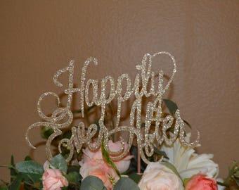Cake Topper, Wedding Cake Topper, Champagne Cake Topper, Bling Wedding Cake Topper, Large wedding Cake Topper