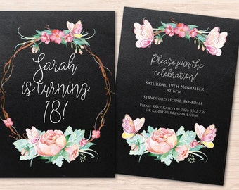 Etsy Birthday Invitation for great invitations layout