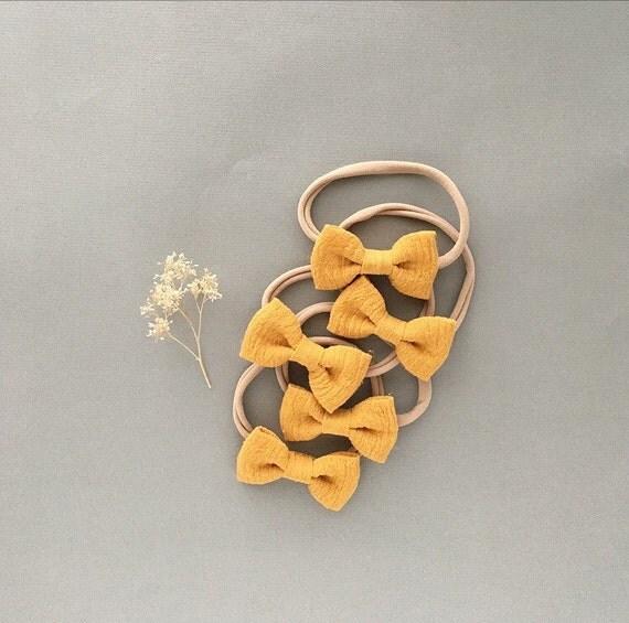 Headband- Dainty Headband  | Mustard Dainty Bow