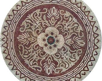 Flower Mosaics Art - Cari Red