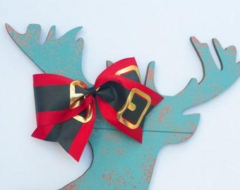 Christmas Cheer Bow - Big Cheer Bow - Christmas Gift - Girls Christmas hair bow - Girl's Christmas - Girl's Christmas outfit - Red hair bow