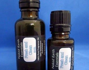 Fresh N Clean Fragrance Oil Naked Earth Essentials 15-30 ML