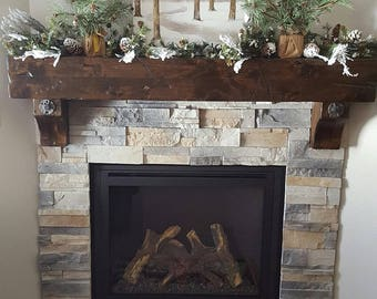 fireplace mantel beam. Fireplace Mantel Floating Rustic Knotty Alder Vintage Salvaged Beam Post  Tie Rail Timber Antique Washers Distressed mantel Etsy