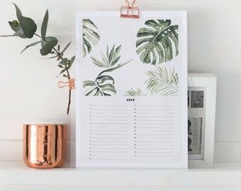 Perpetual Birthday Calendar Perpetual - A4