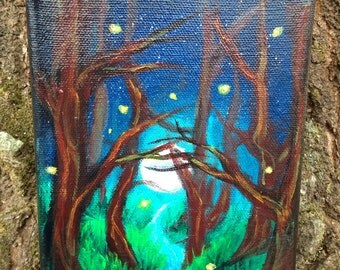 Enchanted Forest Acrylic Painting