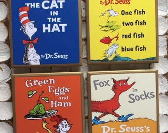 COASTERS!! Dr Seuss coasters with gold trim