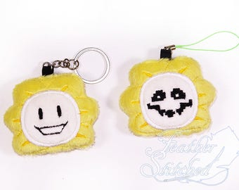 UPDATED- Undertale Flowey Phone charm/ screen cleaner