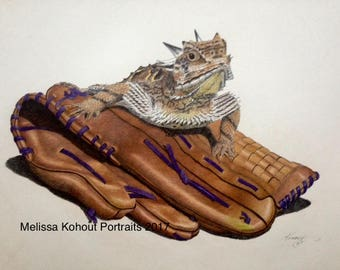 Play Ball! 8x10 full-color prints. Celebrate Frogs' Baseball!