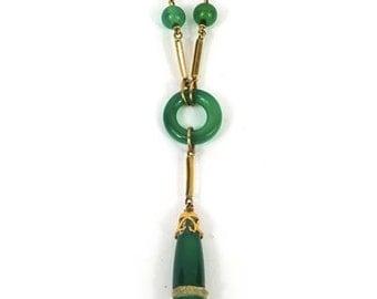 A 9ct Gold Art Deco Necklace