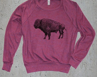 Womens Vintage BUFFALO BISON Sweater Sweatshirt)Best Selling Items,Native American Apparel,Bohemian Clothing,Girlfriend Birthday Gifts