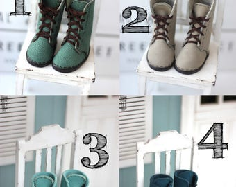 Minifee Moe-line leather boots (shoes, slim msd, bjd boots)
