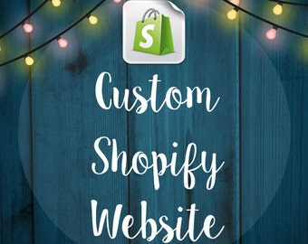 Custom Shopify eCommerce Website Design - Online store - Web Design -  eCommerce Website - Shop - Facebook Store