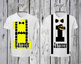 Batman 1st Birthday Iron T shirt Design FILE ONLY! Batman 1st birthday Tee shirt- Batman tee shirt- Batman suspenders- Batman shirt Designs