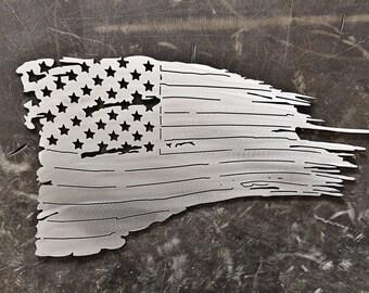 """24"""" Raw Steel Flag"""