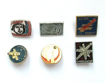 Space, Badges, Pick your pin, Cosmos, Vintage collectible badge, Soviet Vintage Pin, Soviet Union, Made in USSR, 1970s