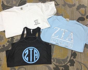Zeta Tau Alpha Shirt Bundel