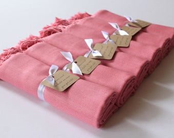 DUSTY ROSE Set of 6 - 6 Dusty Rose Shawls - Dusty Rose Pashminas - Bridesmaid Shawls Pink - Shawls Dusty Rose - Personalized Pashminas