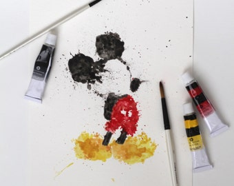 Mickey Mouse Watercolor [Digital Download]