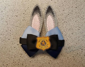 PRE ORDER Hand made Zootopia, Judy Hopps, hair bow