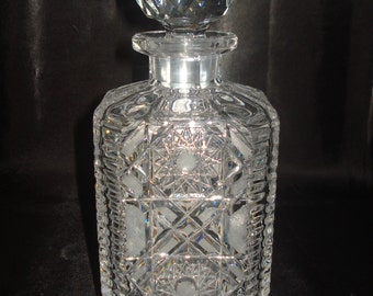 "Vintage Baccarat Crystal ""Tudeils"" Whiskey Decanter.  6 LBS.  Made in France. **Free Expediating Shipping in the U.S**"