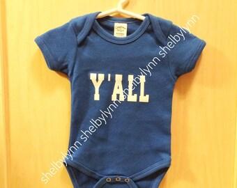 Y'all Baby Bodysuit