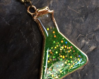 Science Potion - resin pendant necklace