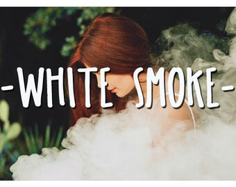 40 Smoke Photoshop Overlays: Realistic cigarette smoke and rings layers, mistical Smoke bomb Photo effect, white smoke dispersion machine